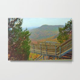 Hiking Through The Wilderness Metal Print