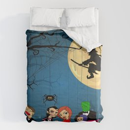 halloween dracula and friends Comforters