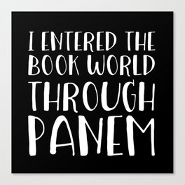 I Entered The Book World Through V5 (Inverted) Canvas Print
