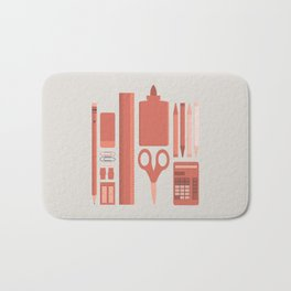 School House Monotone Bath Mat