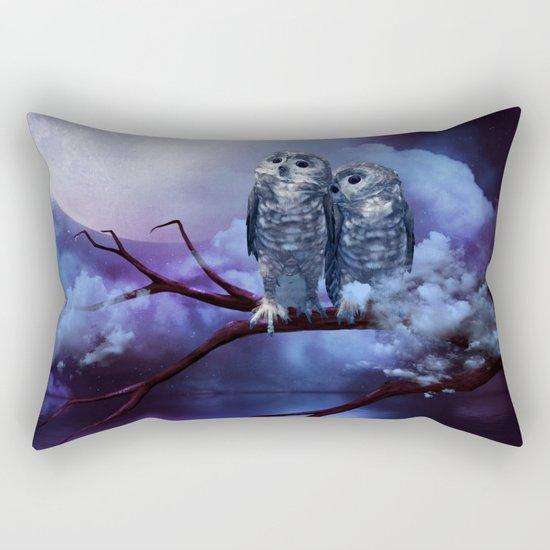Cute couple owls Rectangular Pillow