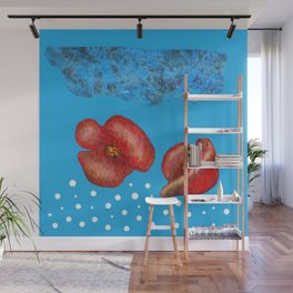 Coquelicot et brume bis Wall Mural