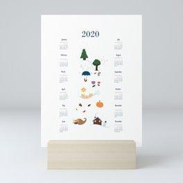 Seasons through the Year - 2020 Calendar Mini Art Print