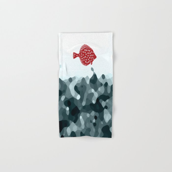Little Red Fish Hand & Bath Towel