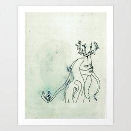 The Husband Eater (sketch) Art Print