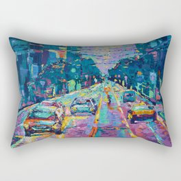 Streets of San Francisco - modern urban city landscape at sunrise by Adriana Dziuba Rectangular Pillow