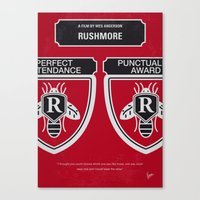 No791 My Rushmore minimal movie poster Canvas Print