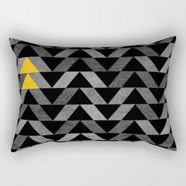 Triangle -Yellow and Grey Rectangular Pillow