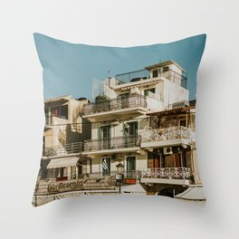 The roofs of Zakynthos Throw Pillow