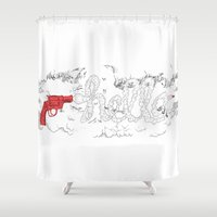 hello Shower Curtains featuring Hello by Mario Stipetic