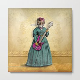 Tessy Tigress Shreds a Solo . . . Grrrrrr! Metal Print