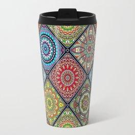 Tiled Boho Mandelas 1 Travel Mug