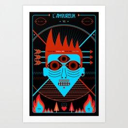TAROT. VI- L´Amoureux Art Print
