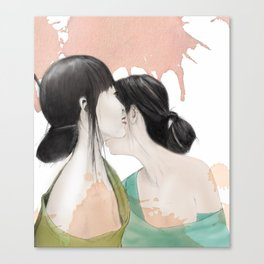 tell me a secret Canvas Print