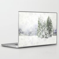 snowboard Laptop & iPad Skins featuring Winter Fresh by Pure Nature Photos