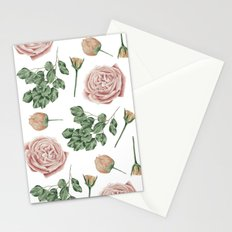 Flower Shop Roses Pattern White Stationery Cards