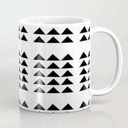 Tribal Triangles in White and Black Coffee Mug