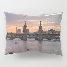 Sunset at Oberbaumbrücke Pillow Sham