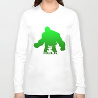 hulk Long Sleeve T-shirts featuring Hulk by Sport_Designs