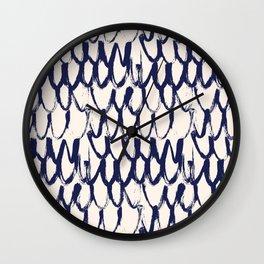 Net pattern. Dry brush. Wall Clock