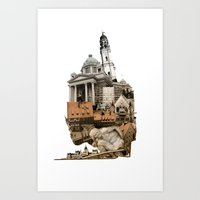 budapest Art Prints featuring Budapest by Alex Eckman-Lawn