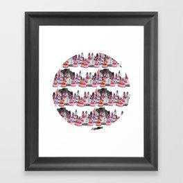 Bear and macaroons!  Framed Art Print