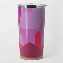 Cow in Downtown Los Angeles Travel Mug