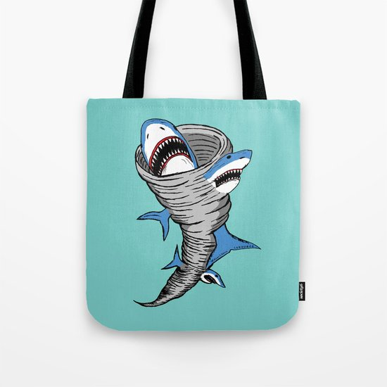 Shark Tornado Tote Bag