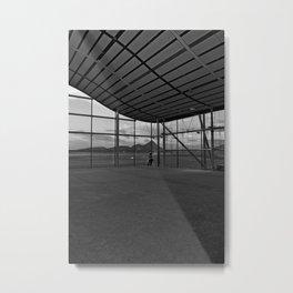Man & Runway Metal Print