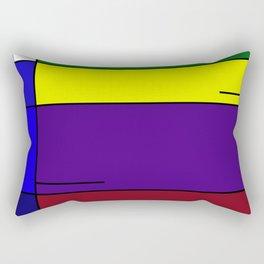 Colorful Line Design Rectangular Pillow