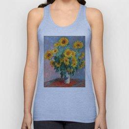 Bouquet of Sunflowers - Claude Monet Unisex Tank Top