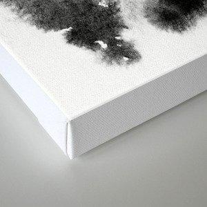 MINIMAL BLACK AND WHITE SPLATTER PATTERN Canvas Print