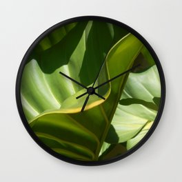 On the Edge, tropical plant study Wall Clock