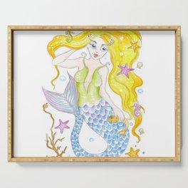 Cute Mermaid Serving Tray