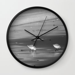 Pipers on the Pacific BW Wall Clock