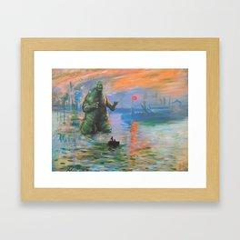 Impression Kaiju Framed Art Print