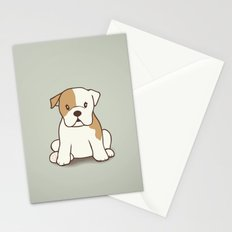 English Bulldog Illustration Stationery Cards