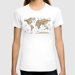 World Treasure Map T-shirt