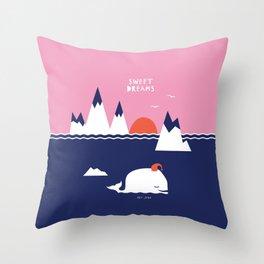 Little Whale Throw Pillow