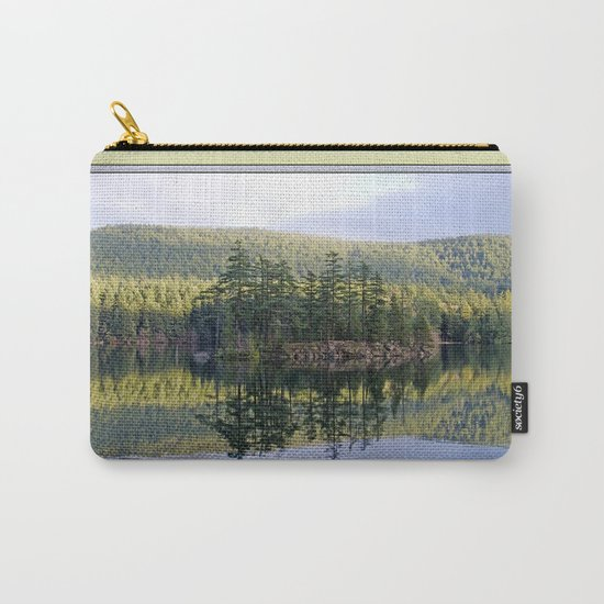 SUNNY BREAKS OVER MOUNTAIN LAKE ORCAS ISLAND Carry-All Pouch