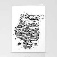 snake Stationery Cards featuring Snake  by Borneo Modofoker