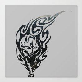 Diamond Eyes Wolf Canvas Print