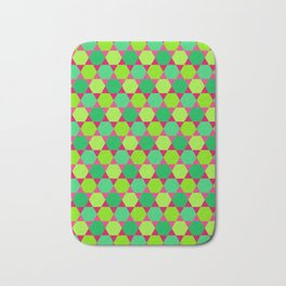 Pattern of Hexagons and Triangles Bath Mat