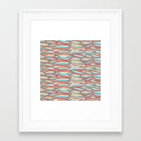 candy Framed Art Prints featuring Candy by Pom Graphic Design