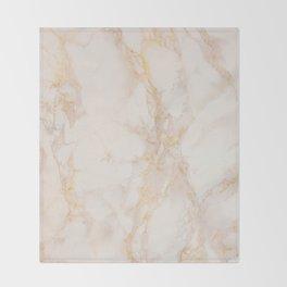 Gold Marble Natural Stone Gold Metallic Veining Beige Quartz Throw Blanket