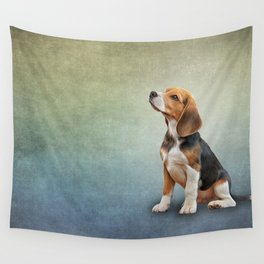 Drawing puppy Beagle Wall Tapestry
