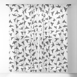 Flock of Birds // black Sheer Curtain