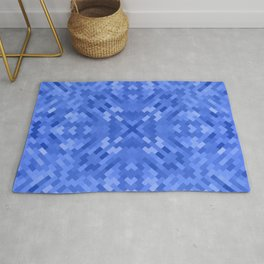 CROSSHATCH bright sea blue pattern Rug