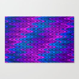 WAVY #2 (Purples, Violets & Turquoises) Canvas Print