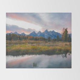 Grand Teton Sunset Throw Blanket